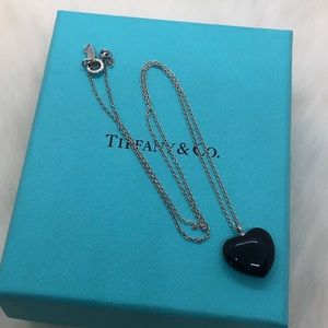 Tiffany & Co. Ziegfeld Black Heart Necklace